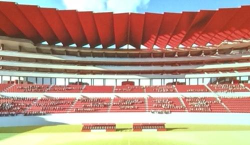 Presentan el proyecto de construcción de palcos y la velaria del Estadio Alfonso Lastras