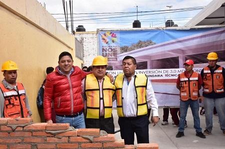 Inició alcalde de Soledad construcción de dos aulas en la Secundaria Técnica 79