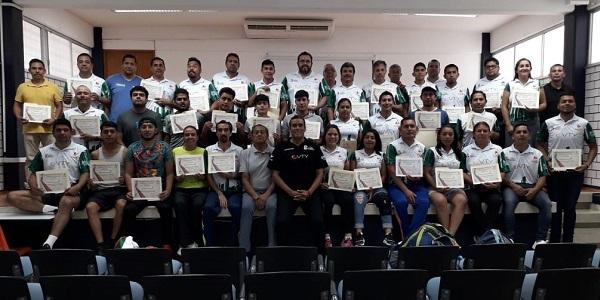 Imparten Curso Nivel 1 del Programa Integral Nacional de Capacitación de la FMVB