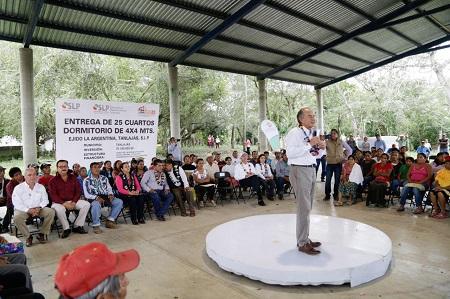 Impulsa JM Carreras construcción de vivienda social en Tanlajás