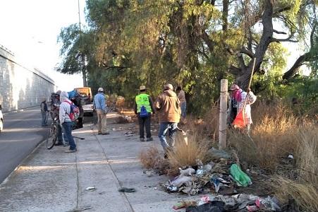 Realizan jornadas de limpieza en principales vialidades de Soledad