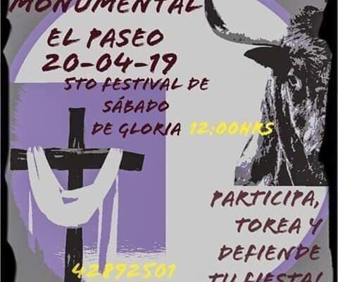 Invitan a participar en el 5º Festival de Aficionados Taurinos de Sábado de Gloria