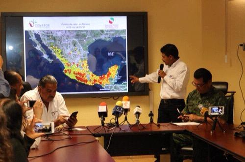 Continúa la labor interinstitucional en el combate a incendios forestales