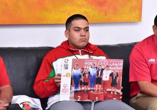 Atleta especial soledense, reconoció al alcalde Gilberto Hernández por su apoyo en las pasadas Olimpiadas Especiales
