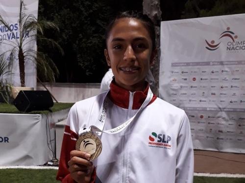 Lorena Rangel obtuvo medalla de oro e impuso récord en Olimpiada Nacional