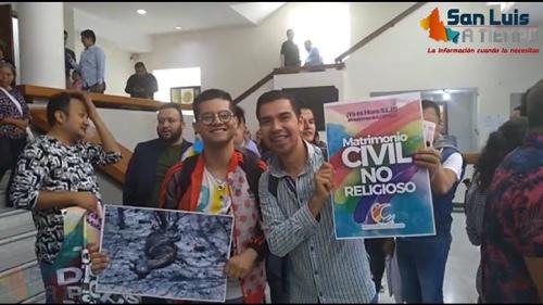 Aprueba Congreso del Estado, legalización de matrimonios igualitarios en SLP