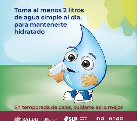 Precisa la Secretaría de Salud que el consumo de agua es importante para la salud