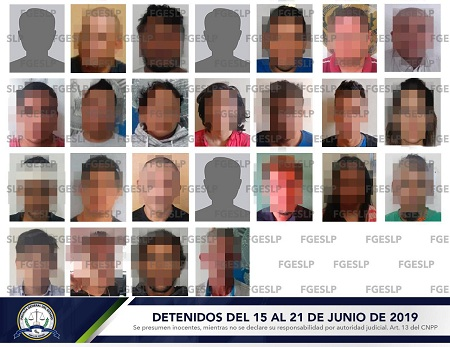 Fiscalía detiene a 25 personas en tercer semana de junio