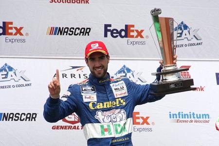 Extraordinaria victoria de Rubén García Jr. en NASCAR Aguascalientes