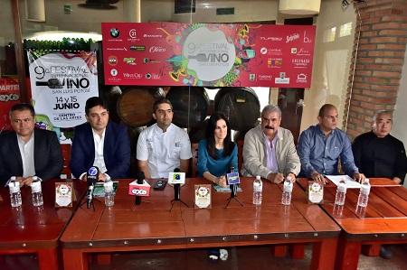 Presentaron el 9° Festival del Vino en SLP