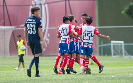 Atlético de San Luis Sub 17 empata a un gol ante Pumas.
