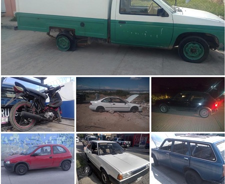 En 48 horas, recupera policía municipal capitalina 7 vehículos robados.
