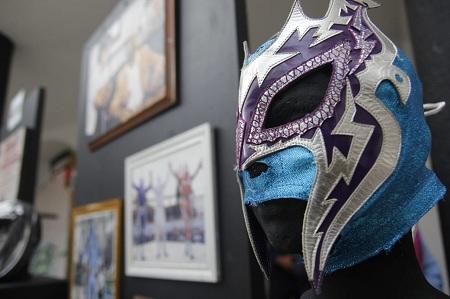 Exhibición de máscaras en la Presidencia Municipal de Soledad de los principales representantes de nuestro estado de la lucha libre