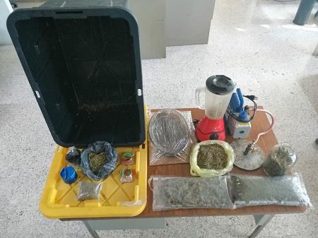 FME asegura más de dos kilogramos de marihuana y wax, hay un detenido