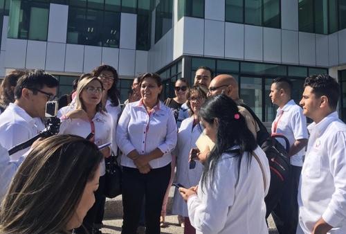 Trabajadores de la Secretaría de Salud, protestaron por supuesto fraude con sus ahorros