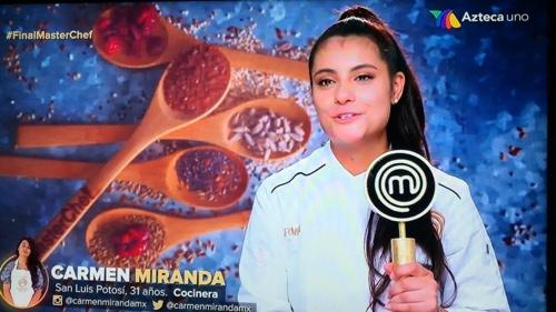 "La potosina Carmen Miranda, ganó Master Chef ""La Revancha"""