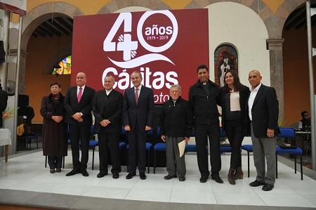 JM Carreras reconoce a Cáritas SLP por 40 años a favor de la sociedad