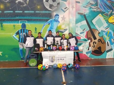 """La Delegación de La Pila sigue implementando actividades deportivas en pro de sus habitantes, tal es el caso del Torneo de Futbol """"Inter Comunidades""""."""