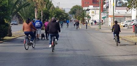 Extraordinaria asistencia a las Ciclovías Dominicales, en apenas el segundo fin de semana del 2020.